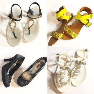 Bundle of 4 size 6 sandals and heel